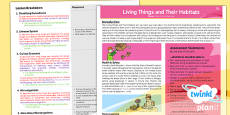 PlanIt - Science Year 6 - Living Things and Their Habitats Planning Overview