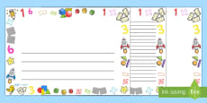 Numeracy Full Page Border (Landscape)