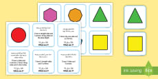 * NEW * 2D Shape Matching Cards Arabic/English