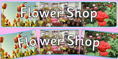 Flower Shop Photo Display Banner