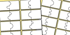 Editable Matching Jigsaw Template