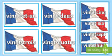 * NEW * French Numbers 21 to 31 Flashcards