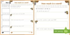 How Much Is a Word? Activity Sheet