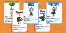 Halloween Monster Top Card Game Polish Translate