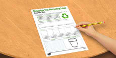 Redesign the Recycle Logo Activity Sheet