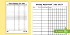 * NEW * Reading Quiz Assessment Tracker