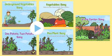 Vegetable Themed Songs and Rhymes PowerPoints Pack
