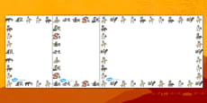 Chinese New Year Animal Symbols Page Borders (Landscape)