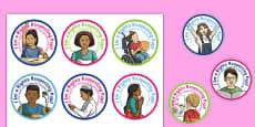 Rights Respecting Schools Badges Romanian Translation