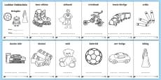 * NEW * Toys (Bréagáin) Colouring Pages Gaeilge