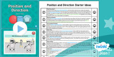 * NEW * PlanIt Y2 Position and Direction Starter Ideas Pack