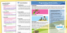 PlanIt - Computing Year 1 - Programming with ScratchJr Planning Overview CfE