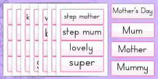 Australia - Mother's Day Word Cards