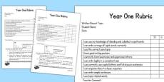 Written Report Rubric Year One