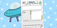 Space Sentence Unscramble Activity Sheets (Australia)