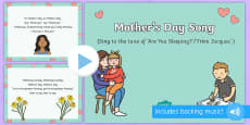 On Mother's Day Song PowerPoint
