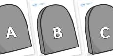 A-Z Alphabet on Grave Stones