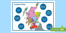 Scottish Cities Word Mat Gaelic English Word Mat