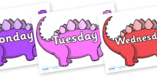 Days of the Week on Stegosaurus