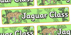 Jaguar Themed Classroom Display Banner