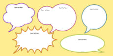 Editable Speech Bubbles Pack