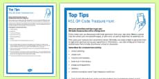 KS1 QR Code Treasure Hunt Top Tips