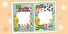 Football World Cup Themed Editable Notes