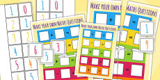 Make Your Own Maths Question Game