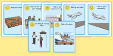 Going on a Plane Journey Sequencing Cards
