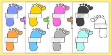 Editable Self Registration Labels (Footprints)