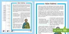 Saint Andrew's Day Differentiated Reading Comprehension Activity