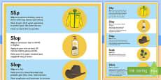 Slip, Slop, Slap, Seek, Slide A2 Display Poster