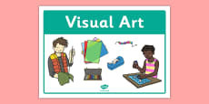 Visual Arts Classroom Area Sign