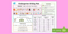 Kindergarten Writing Word Mat