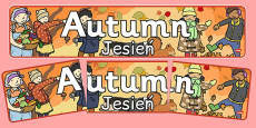 Autumn Display Banner Polish Translation