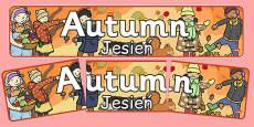 Autumn Display Banner Polish Translation