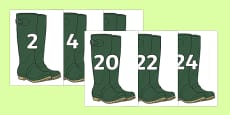 Multiples of 2 on Wellies Welly Boots