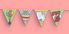 2nd Birthday Party Picture Bunting