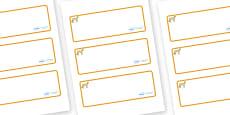 Cheetah Themed Editable Drawer-Peg-Name Labels (Blank)