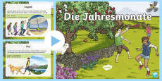 Months of the Year in Germany PowerPoint