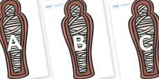 A-Z Alphabet on Mummies (Coffin)
