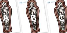 A-Z Alphabet on Mummies (Coffin)