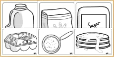 Pancake Day Colouring Sheets