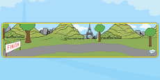 Tour de France Themed Editable Banner for Publisher