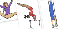 The Olympics Editable Images Gymnastics