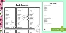 * NEW * Serii lexicale Scriere creativă