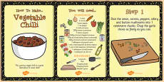 Vegetarian Chilli Recipe Cards