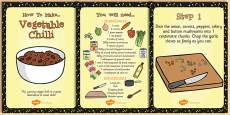 Vegetarian Chilli Recipe Cards