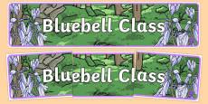 Bluebells Themed Classroom Display Banner