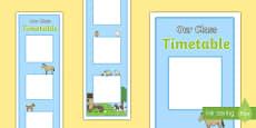 Farm Themed Vertical Visual Timetable Display